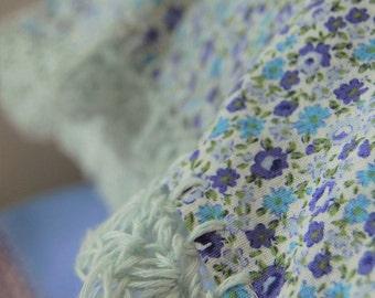 pillowcase with crochet trim  -  Dainty Delight (blue)