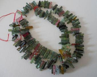 Fabulous Watermelon Tourmaline Sticks Strand