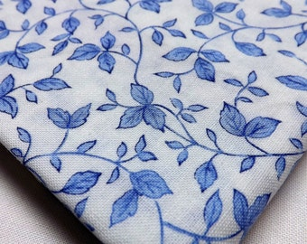 Fat Quarter, Timeless Treasures, Bella Blue Rose, C2151, Blue and White, Fabric, Quilting Fabric, Sewing Fabric, Fabric for Quilting, Quilt