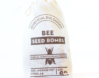 Bee Seed Bombs Flowers - beneficial bugs and pollinators
