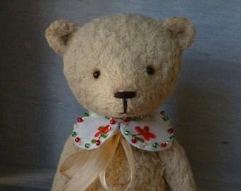 OOAK Handmade 5.5 inch Viscose Artist Teddy Bear Toffee