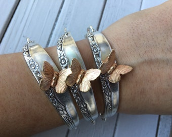 Butterfly Spoon Handle Bracelet