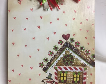 Clearance Sale GINGERBREAD HOUSE Clipboard