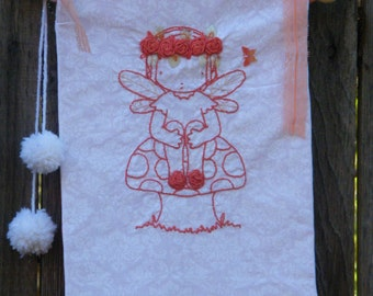 Patchwork Embroidery Forest Fairy Embroidery  Banner Flag Decor