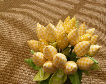 Yellow Checker Tulips  Bouquet  Decor Piece