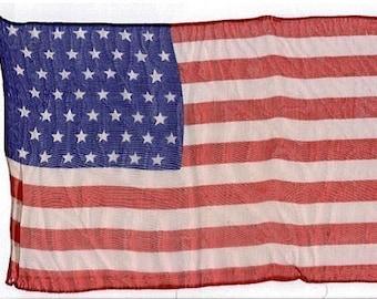1959 Forty Nine Star Flag Vintage Parade Flag Hard to Find