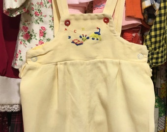 1950s Baby Overalls 9/12 Months