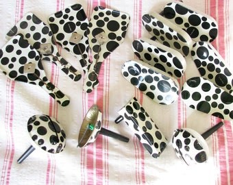 On the Dot...Fun Lot of Vintage Black & White Noisemakers