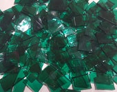 Mosaic Tiles 150 pcs TRANSLUCENT TEAL Stained Glass Mosaic Tile