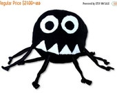 ON SALE Stuffed Animal Baby Ball Toy - Marvin the Misunderstood Spider - ZadyCreature - black and white
