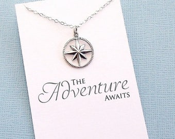 SALE - Class of 2017 | Compass Necklace, Graduation Gift, Graduation Gifts for Her, Student Gift, College Student, Globetrotter, Compass Ros