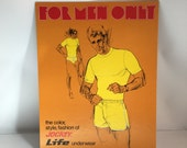 Underwear Advertising Mens Jockey For Men Only Store Display Cardboard Lithograph Stand Up Display 1960's-1970's