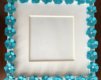 Blue poppy frame