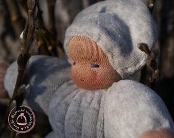 Weidenkätzchen Erstlings Puppe handgefertigt in Waldorf Tradition - Puppe Waldorf Art - Kuschel Puppe - Waldorf Pädagogik
