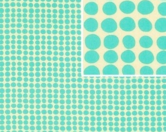 """Rice Flaxseed  - 24x5"""" - Microwave Neck Shoulder Wrap, Long, Turquoise Dots Fabric, Lavender"""