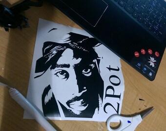 Tupac Instant pot vinyl decal 2pot