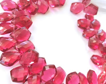 1/2 strand of pomegranate color hydro quartz kites