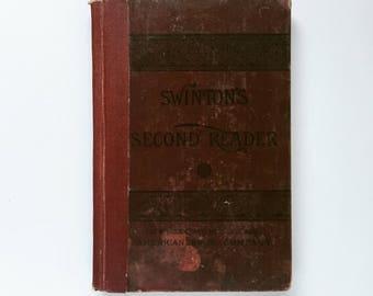 Swinton's Second Reader Vintage School Book 1882