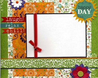 Happy Day - Premade Scrapbook Page