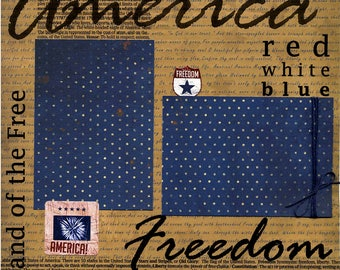 America - Land of the Free - 12x12 Premade Scrapbook Page