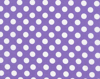 Sale Fabric, Purple and White Dot, Spot on Polka Dot fabric, Quilt fabric, Cotton Fabric by the Yard, Spot on Violet, Choose your cut