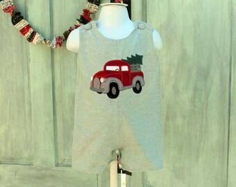 Old truck with Christmas tree boys jon jon