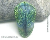 SPRING GREEN...handmade lampwork bead by Anastasia...SRA...ooak...reserved for Sally...
