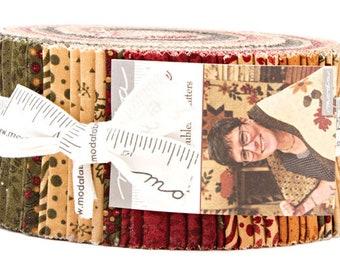 "Moda GOOSEBERRY LANE Jelly Roll 2.5"" Precut Fabric Quilting Cotton Strips Kansas Troubles 9540JR"