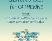 CUSTOM ORDER for CATHERINE - Wine Bottle Labels - Cinque Terre