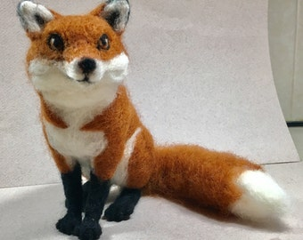 Needle Felted Fox by Shelly Schwartz