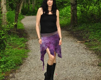 Aeracura Skirt - Boho Skirt - Womens Skirt - Short Skirt - Hippie Skirt - Festival Skirt - Mini Skirt - Black Skirt - Bamboo Skirt