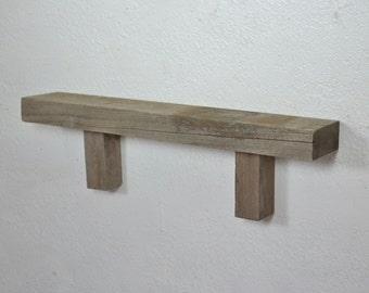 Decorative shelf from reclaimed wood 19.5 3 x 5