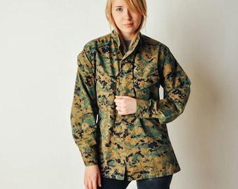 Vintage Digital Camo Military Jacket
