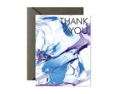 THANK YOU Marble Art Greeting Card - Single Card