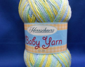 Herrschners, baby yarn,  acrylic, light worsted weight, 3 1/2 ounce skein, CITRUS