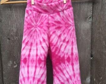 Pink tie dye Anti Pill Fleece Yoga Pants