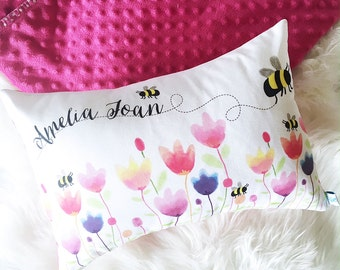 Spring Tulips Personalised Cushion