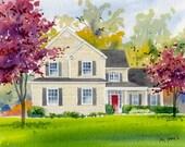 Watercolor home portrait