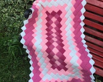 Argyle Crochet Afghan Pattern : Argyle afghan Etsy