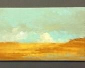 MINI 1705, 0riginal oil painting, landscape, miniature art, 100% charity donation, oil painting on cardboard