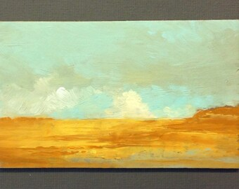 MINI 1705, 0riginal oil painting, landscape, miniature art, 100% charity donation, oil painting on cardboard