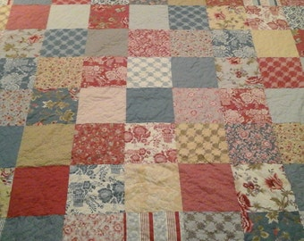 shabby chic queen size quilt