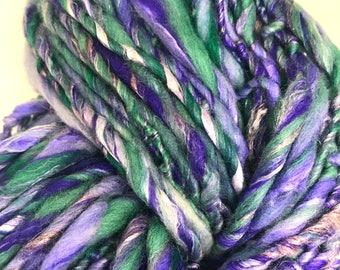 Handspun yarn brillant blue
