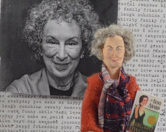 Margaret Atwood-  Miniature Doll-  Canadian Writer - Art Collectible