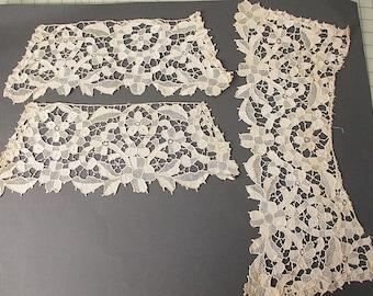 Antique lace collar Italian needlelace