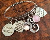 SYMPATHY gift,  sympathy gift mother, sympathy gift father, forever in my heart, remembrance, religious gifts, bangle bracelet, charm