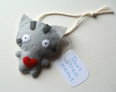 Funny Christmas Ornament Gray Tabby Cat Ornament Funny Holiday Gift Cat Gift for Cat Lovers Stuffed Animal Cute Cat Doll Handmade Ornament