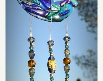 SALE SALE SALE River Stained Glass Windchime
