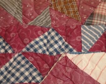 Antique Quilt Pieces | Vintage Quilt Pieces |  Old Cutter Quilt Pieces | 3 Cutter Quilt Pieces