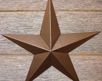 "Metallic Hammered Brown 120"" Barn Star"